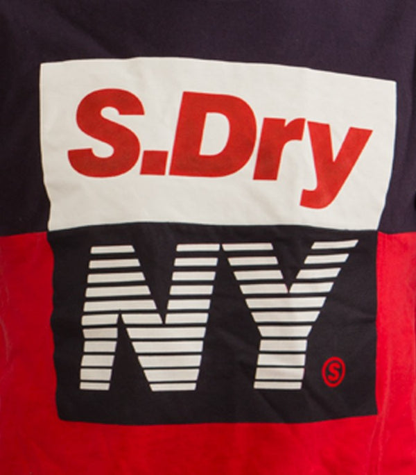 Superdry Men's NY T-shirt In Blue/Red - Labels4Less