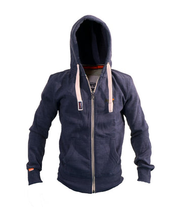 Superdry Men's Orange Label Hoodie In Maritime Blue