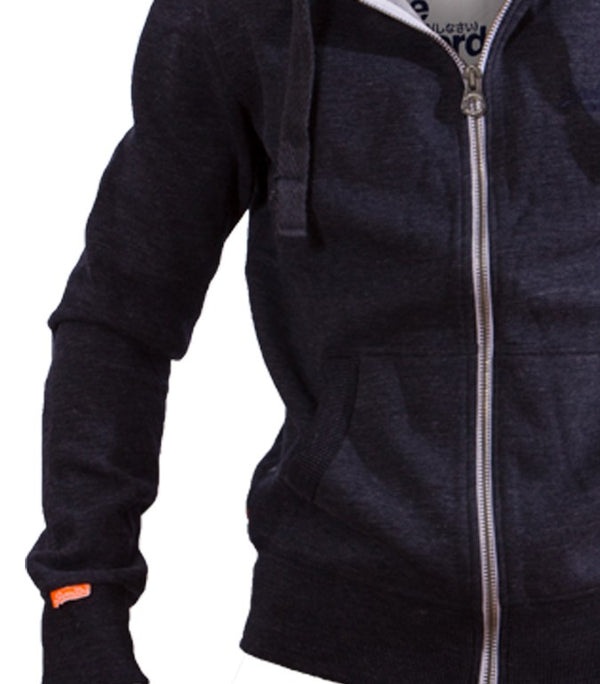 Superdry Men's Zip Up Orange Label Hoodie In Blue - Labels4Less