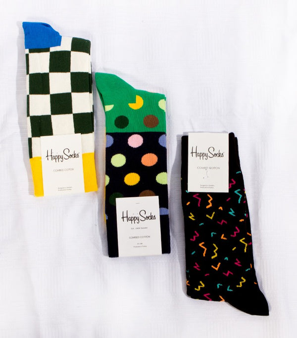Happy Socks Shapes, Pack of 3 - Labels4Less