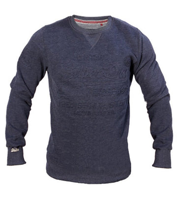 Superdry Men's Vintage Crew Neck Sweater In Navy Blue