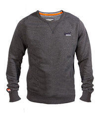 Superdry Men's Crew Neck Sweater In Grey - Labels4Less