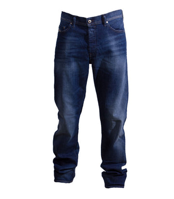 Diesel Men's Thytan 084GR Comfort-Straight Jeans In Dark Blue