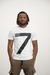 Armani Men's EA7 Big 7 T-shirt In White - Labels4Less