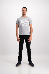 Superdry Men's Vintage T-shirt In Grey - Labels4Less