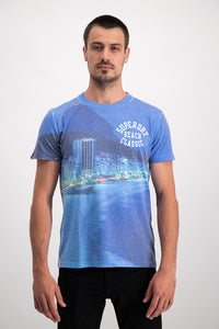 Superdry Men's Laguna T-shirt In Blue - Labels4Less
