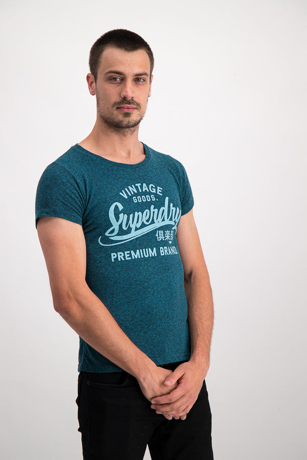 Superdry Men's Premium Entry T-shirt In Blue - Labels4Less