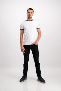 Superdry Men's Stadium Ringer T-shirt In White - Labels4Less