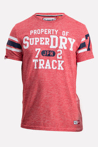 Superdry Men's Trackster Sprint T-Shirt In Peach - Labels4Less