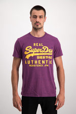 Superdry Men's Vintage Authentic Grit T-shirt In Purple - Labels4Less