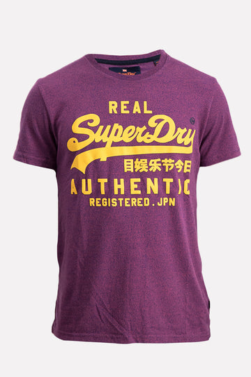 Superdry Men's Vintage Authentic Grit T-shirt In Purple