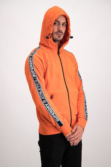 Superdry Men's Stadium Zip Up Hoodie In Orange