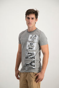 Superdry Men's Sony T-shirt grey grit - Labels4Less