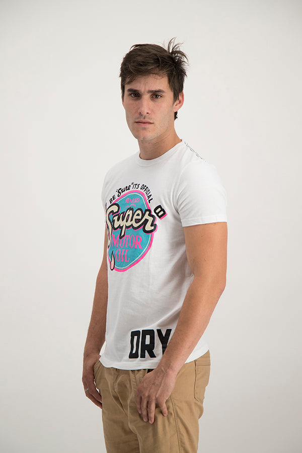 Superdry Men's Reworked Optic T-shirt White - Labels4Less