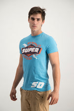 Superdry Men's Reworked Classic T-shirt Blue - Labels4Less