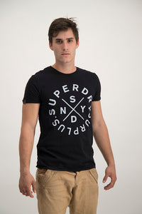 Superdry Men's NYSD Surplus T-shirt In Black - Labels4Less