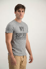 Superdry Men's NY Surplus Goods T-shirt In Grey - Labels4Less