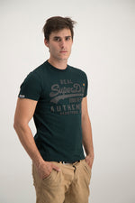 Superdry Men's Authentic Duo T-shirt Green Grit - Labels4Less