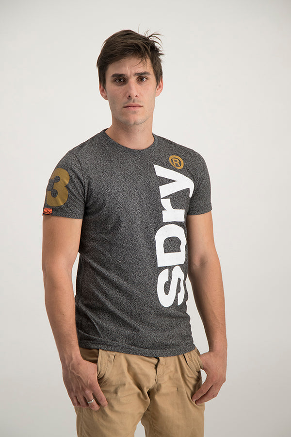 Superdry Men's International Registered T-shirt Dark Grey - Labels4Less