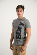 Superdry Men's International Registered T-shirt Grey Grit - Labels4Less