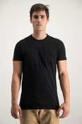 Superdry Men's Vintage Entry Emboss T-shirt Black