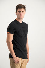 Superdry Men's Vintage Entry Emboss T-shirt Black - Labels4Less
