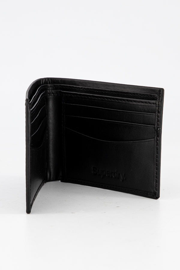 Superdry Signature Logo Men's Leather Wallet - Labels4Less