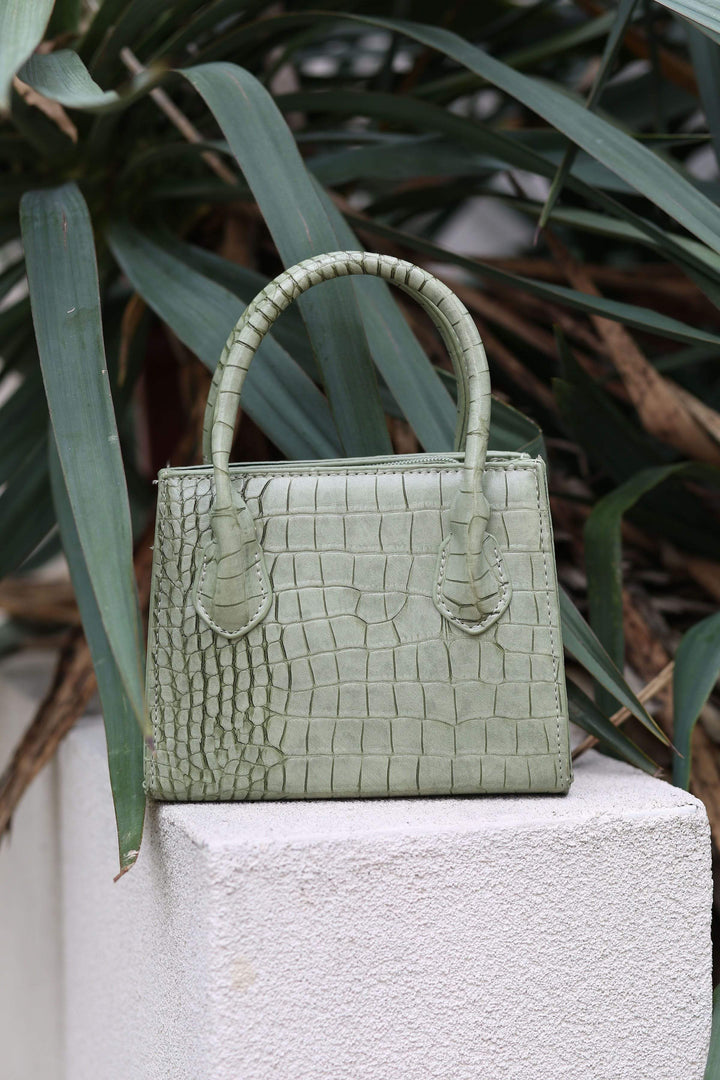 Ramaé Mini Bags Croc Embossed Sage Satchel swimsuits 2019 trendy bikini trendy swimsuits instagram bikini brands trendy bathing suits spring break swimsuit cheeky bikini high cut bikini