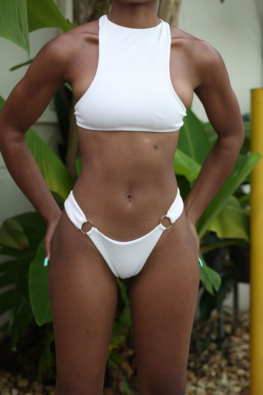 Ramaé Swimwear RING LINKED CRISSCROSS BACK BIKINI SWIMSUIT swimsuits 2019 trendy bikini trendy swimsuits instagram bikini brands trendy bathing suits spring break swimsuit cheeky bikini high cut bikini