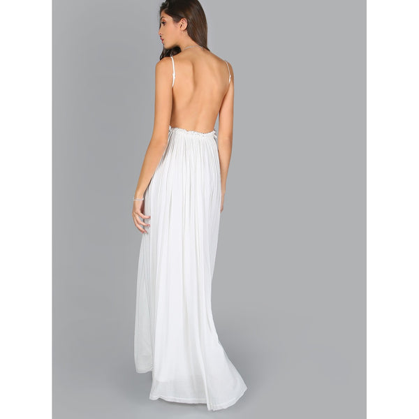 Backless Lace Maxi