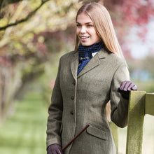 Ladda upp bild till gallerivisning, EQUETECH Ladies Claydon Deluxe Tweed Riding Jacket, klassisk engelsk ridkavaj i tweed