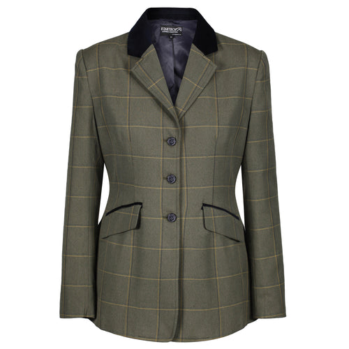 EQUETECH Kensworth Deluxe Tweed Riding Jacket, tävlingskavaj i tweed