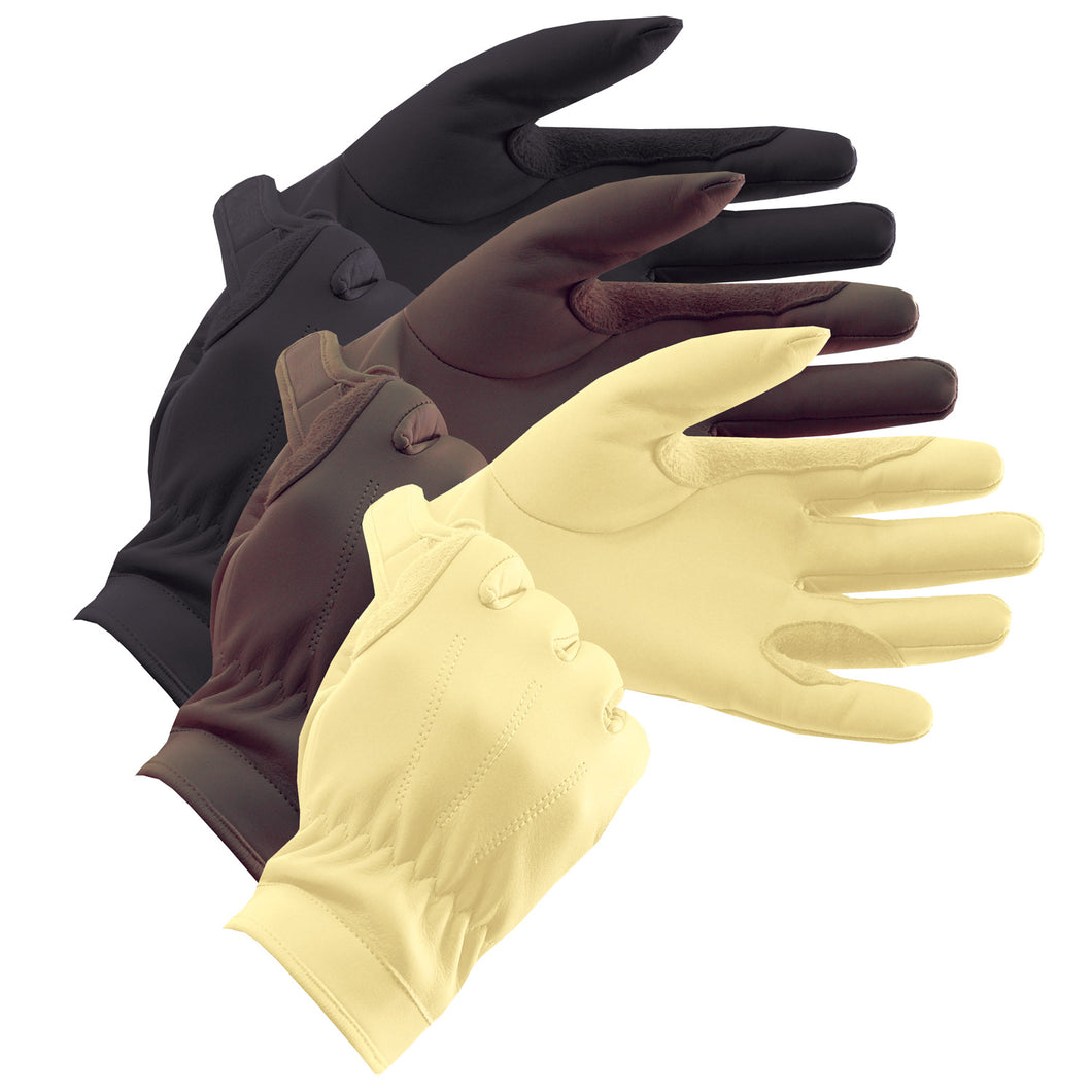 EQUETECH Junior Leather Show Gloves, ridhandskar i skinn, junior