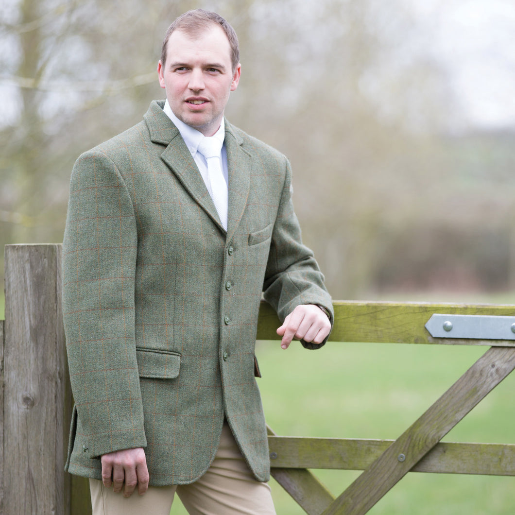 EQUETECH Mens Claydon Tweed Riding Jacket, ridkavaj herr i tweed