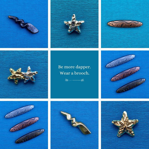 1980s vintage brooches