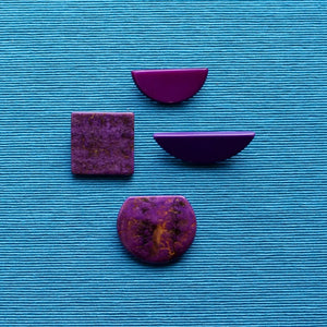 Purple Upcycled 1980s Jewellery Pins