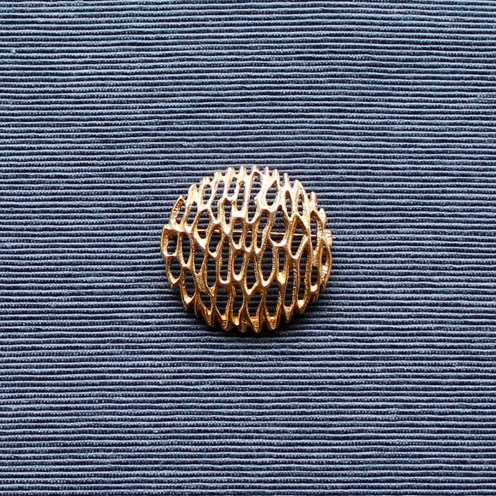 1960s Sarah Coventry Circular Modernist Gold Tone Brooch