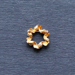 Napier Gold Wreath Brooch with Faux Pearls
