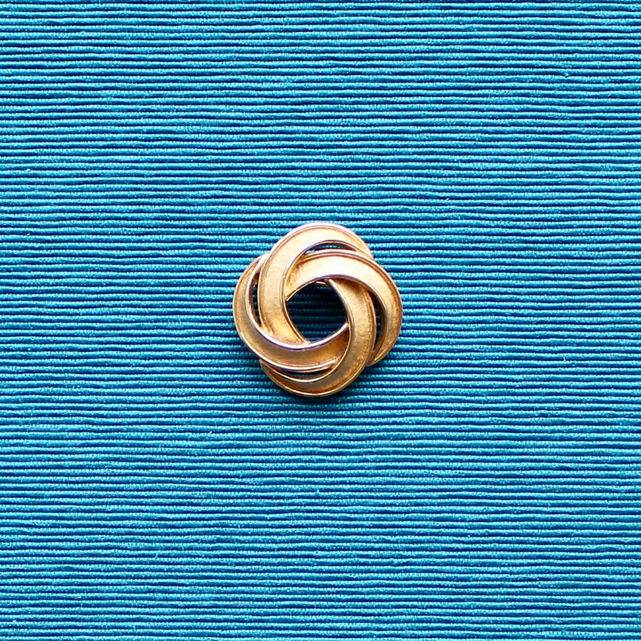 Gold tone Trifari Double Knot Brooch