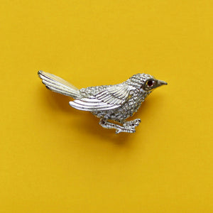 Tiny Silver Bird by Sarah Coventry