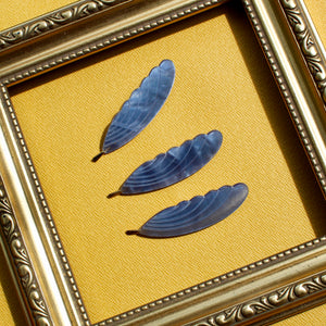 Feather Brooch - Blue