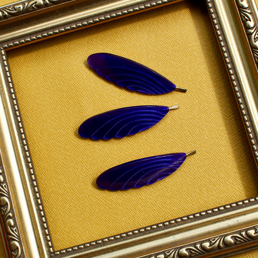 Feather Brooch - Purple