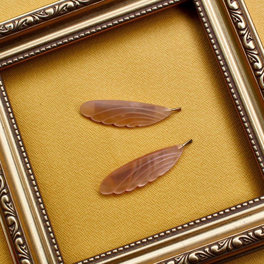 Feather Brooch - Pink