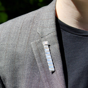 Crimped Rectangular Jakob Bengel Brooch