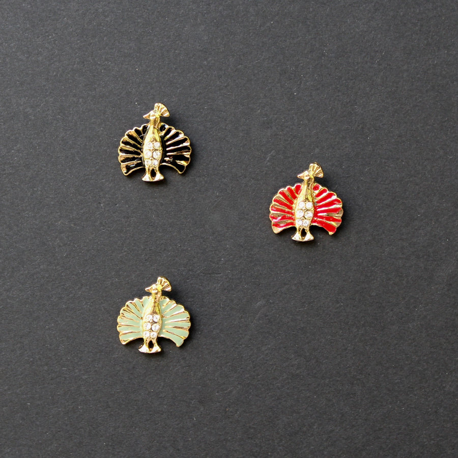 Gold Peacock Lapel Pins