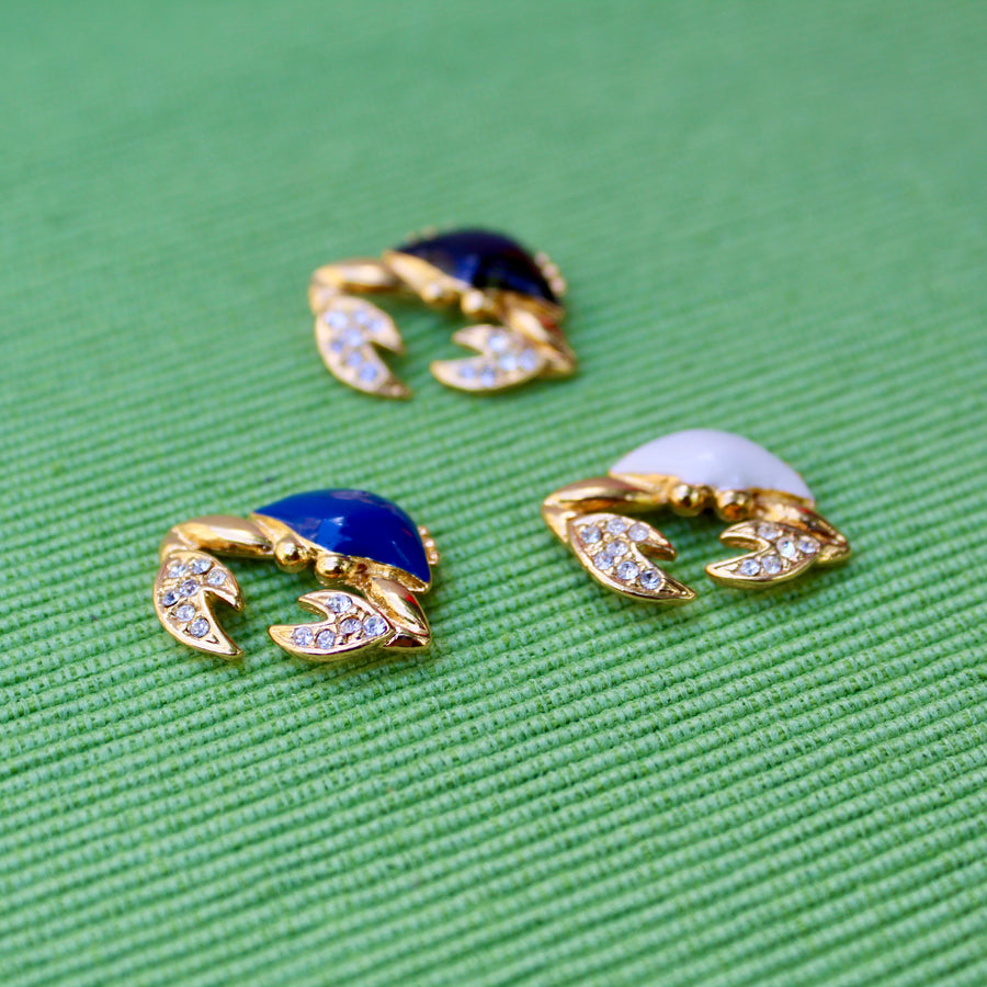 Gold Crab Lapel Pins