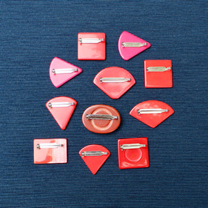 Red Upcycled Vintage 1980S Jewellery Pins