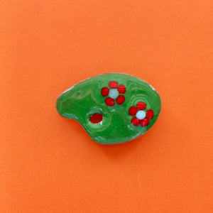 1950s Copper Enamel Easel Brooch 2