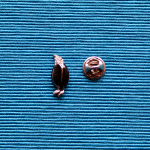 Silver and Black Penguin Lapel Pins