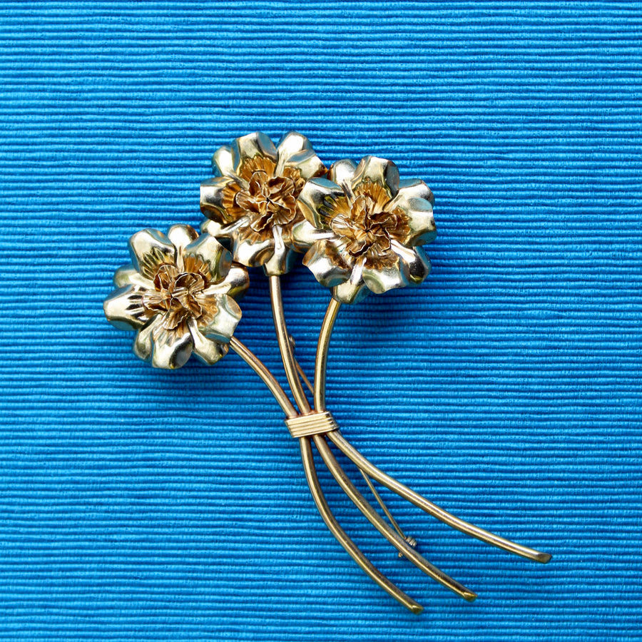 Large Floral Stem Brooch - as seen in Vogue